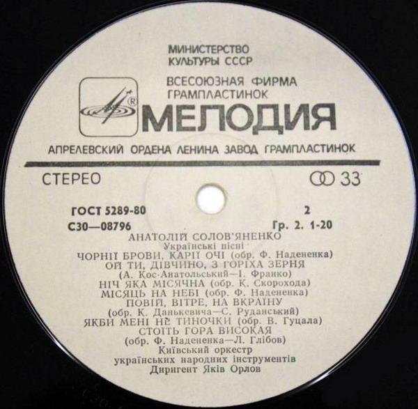 Анатолій Солов'яненко співає українські пісні. КО УНІ (1977р.)